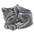 Decorative Toilet Bolt Cover - Cat design - Dark Grey