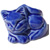 Decorative Toilet Bolt Cover - Cat design - Blue