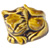 Decorative Toilet Bolt Cover - Cat design - Golden Brown