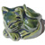 Decorative Toilet Bolt Cover - Cat design - Green