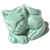 Decorative Toilet Bolt Cover - Cat design - Light Green