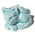 Decorative Toilet Bolt Cover - Cat design - Turquoise