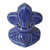 Toilet bolt cap - decorative Fleur-de-Lis design - Cobalt Blue
