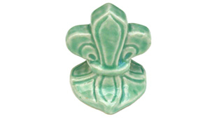 Toilet bolt cap - decorative Fleur-de-Lis design