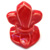 Toilet bolt cap - decorative Fleur-de-Lis design - Mango Red