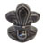 Toilet bolt cap - decorative Fleur-de-Lis design - Steel Grey