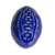 Toilet floor bolt cover - ceramic Football design - Blue
