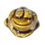 Toilet bolt cap - decorative Frog design - Brown