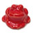 Toilet bolt cap - decorative Frog design - Mango Red