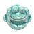 Toilet bolt cap - decorative Frog design - Turquoise