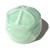 Toilet bolt cap - decorative Plumeria design - Light Green