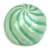 Toilet bolt cap - decorative Sea Shell design - Light Green