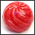 Toilet bolt cap - decorative Sea Shell design - Mango Red