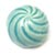 Toilet bolt cap - decorative Sea Shell design - Turquoise