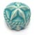 Toilet bolt cap - decorative Sea Star design - Turquoise