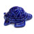 Toilet floor bolt cap - decorative Turtle design - Blue