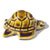 Toilet floor bolt cap - decorative Turtle design - Brown