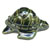 Toilet floor bolt cap - decorative Turtle design - Green