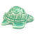 Toilet floor bolt cap - decorative Turtle design - Light Green