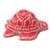 Toilet floor bolt cap - decorative Turtle design - Red