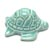 Toilet floor bolt cap - decorative Turtle design - Turquoise