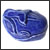 Toilet bolt cap - decorative Whale design - Blue